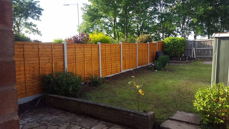 back garden fencing