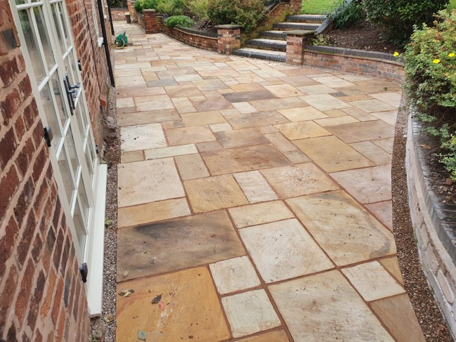 tiling on the patio